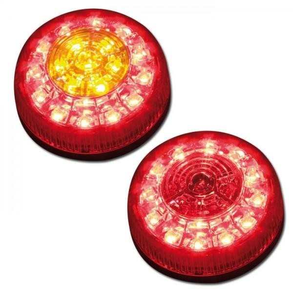 LED Zadní světla s blinkry ROUND (pár - 2ks)