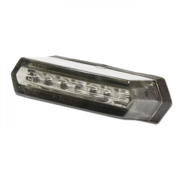 Mini LED zadní světlo bez osvětlení SPZ, rozměry 50x18x20mm, kouřové