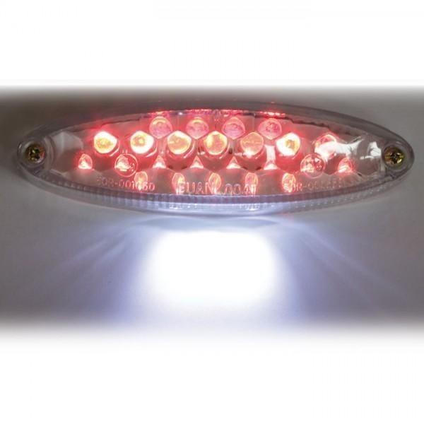 LED zadní světlo MINI CLEAR, s osvětlením SPZ, čiré