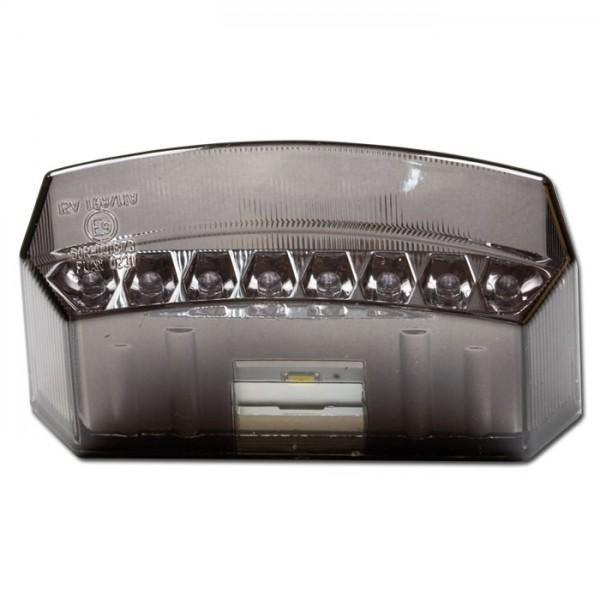 LED zadní světlo TERAMO, s osvětlením SPZ, kouřové