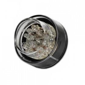 LED zadní světlo MINI ROUND, plastové, černé, s osvětlením SPZ, čiré
