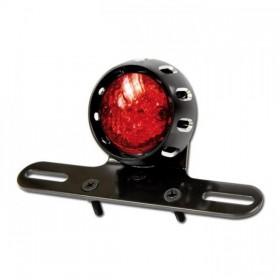LED zadní světlo CNC RED, černé, s držákem a osvětlením SPZ
