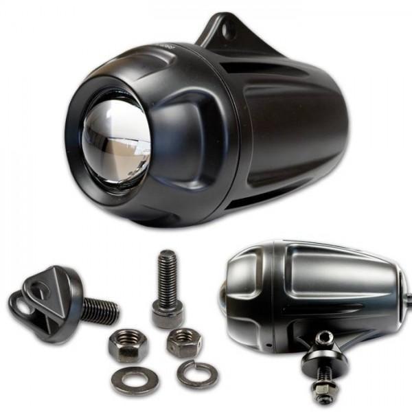 Tlumené elipsoidní světlo, hliníkové, černé, H1 55W