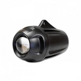 Dálkové elipsoidní světlo, hliníkové, černé, H1 55W