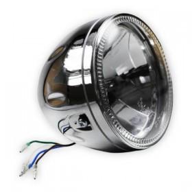 """Přední hlavní světlo SKYLINE čiré s LED parkovacím světlem, 5 3/4"""", H4 60/55W, chrom"""