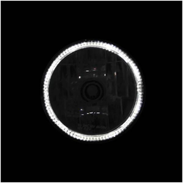 """Přední hlavní světlo čiré s CCFL parkovacím světlem, 5 3/4"""", H4 60/55W, chrom"""