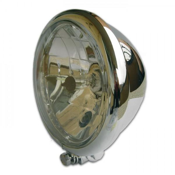 """Přední hlavní světlo BATES STYLE čiré s parkovacím světlem, 5 3/4"""", H4, chrom"""
