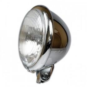 """Přední hlavní světlo BATES STYLE s parkovacím světlem, 5 3/4"""", H4, chrom"""