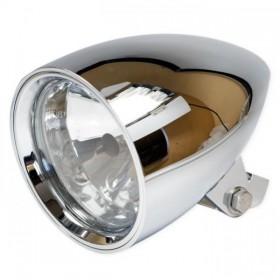 """Přední hlavní světlo CLASSIC 3 čiré s parkovacím světlem, 4 1/2"""", HS1, chrom"""
