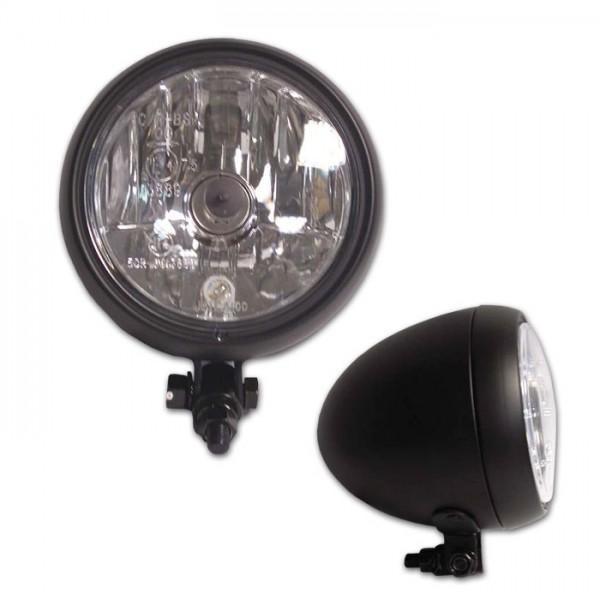 """Přední hlavní světlo čiré s parkovacím světlem, 5 1/4"""", HS1, černé"""