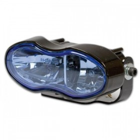 Přední dálkové / mlhové dvojité světlo, modré sklo, 2x H3, černé