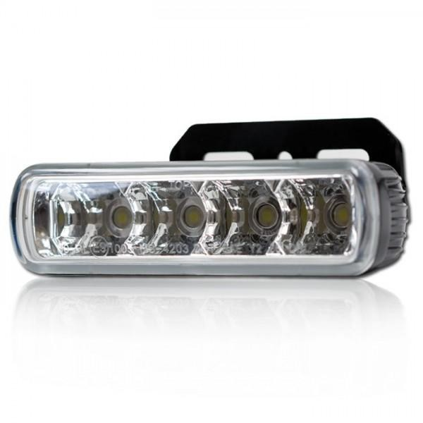 LED světlo pro denní svícení, čiré, včetně držáku