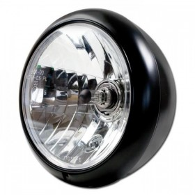 """Přední hlavní světlo HD STYLE čiré s parkovacím světlem, 7"""", H4, černé matné"""
