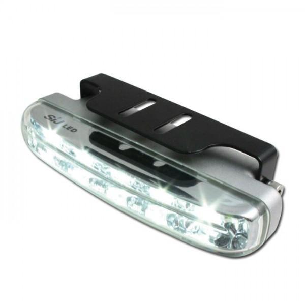 LED světlo pro denní svícení, čiré, 104 x 40 x 25 mm, včetně držáku