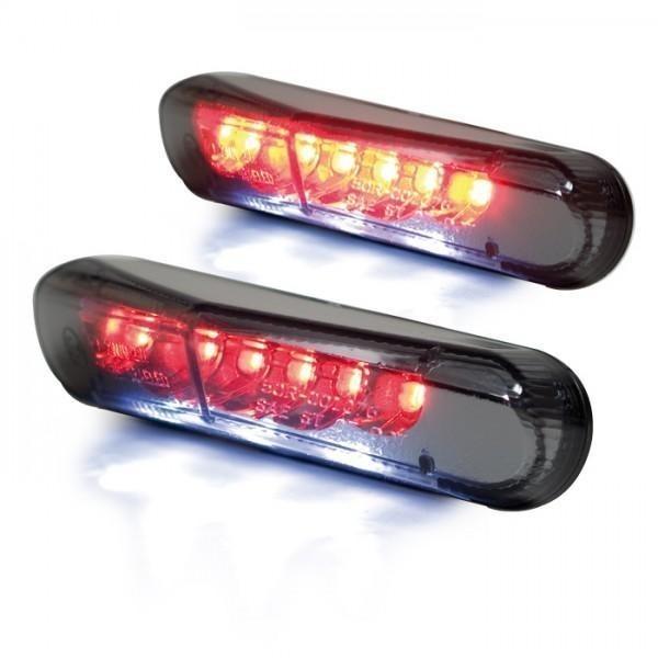 LED zadní světlo BRISK 2, s osvětlením SPZ, kouřové