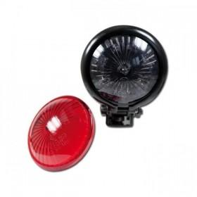 LED zadní světlo BATES STYLE černé, bez osvětlení SPZ, Ø 57mm