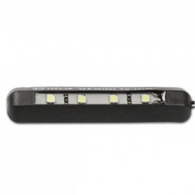 LED osvětlení SPZ, FLEX, ohebné, samolepící, černé, 60 x 6 x 13 mm