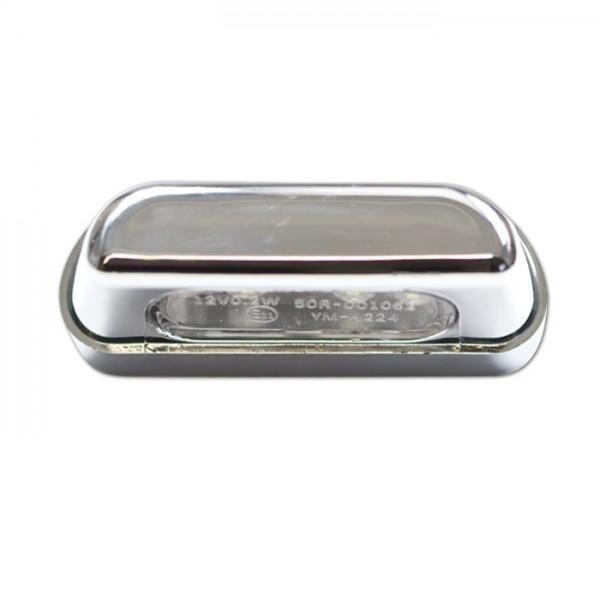LED osvětlení SPZ, chrom, plastové, 55 x 19 x 26 mm