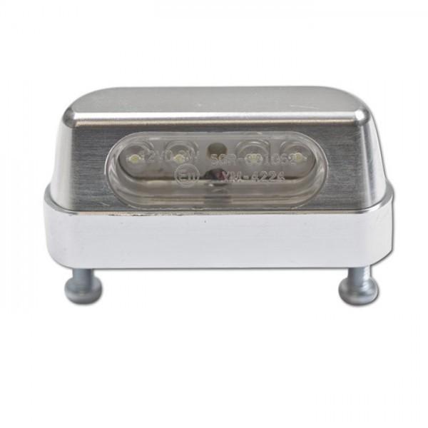 LED osvětlení SPZ, chrom, hliníkové, 55 x 19 x 26 mm