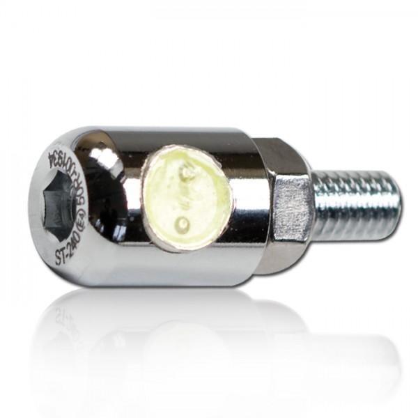 LED osvětlení SPZ POWER LED chrom, Ø 13 x 30 mm