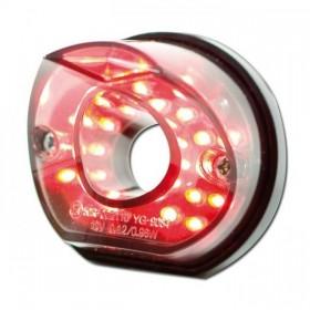 LED zadní světlo PIPE SMOKE, černé, bez osvětlení SPZ, kouřové