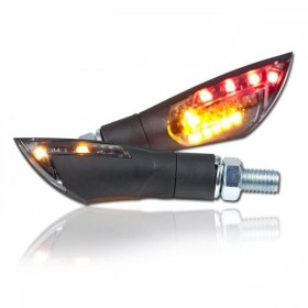 LED blinkry DUAL SMOKE 2, černé, se zadním světlem, (pár - 2ks)