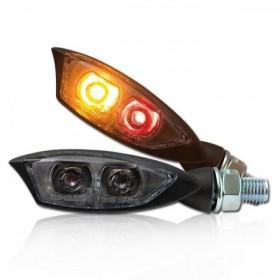 Power-LED blinkry SHADOW SMOKE, se zadním světlem, černé (pár - 2ks)