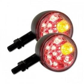 LED blinkry PRISMA CLEAR, se zadním světlem, hliníkové, černé matné (pár - 2ks)