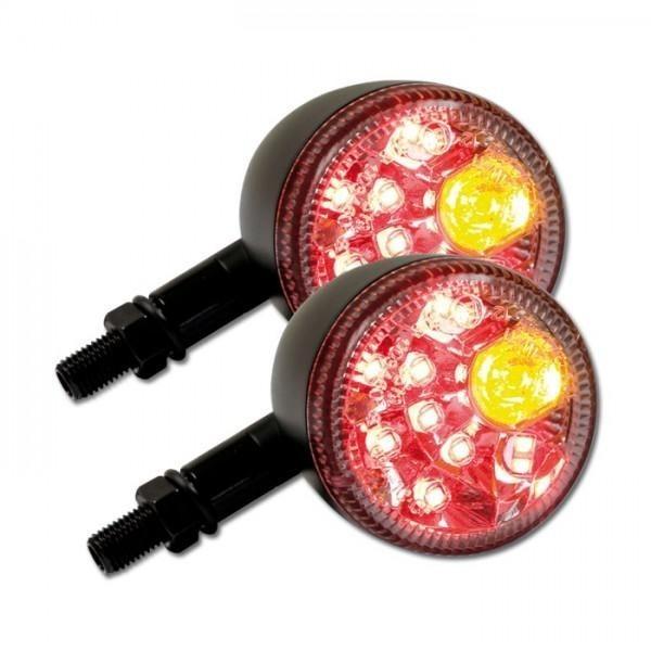 LED blinkry PRISMA CLEAR, se zadním světlem, černé matné (pár - 2ks)