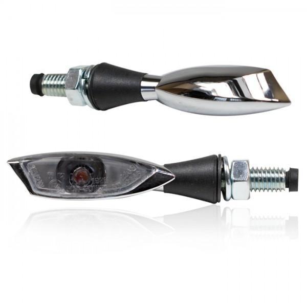 Power-LED blinkry SHADOW LIGHT SMOKE, chrom (pár - 2ks)