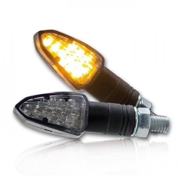 LED blinkry LIZZARD SMOKE, černé (pár - 2ks)