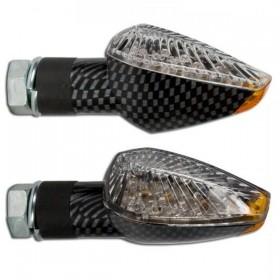 LED blinkry PEAK CLEAR, karbon, konvexní sklo (pár - 2ks)