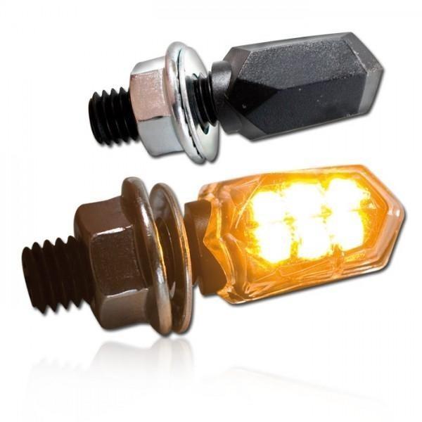 LED blinkry NEW NANO SMOKE, černé (pár - 2ks)
