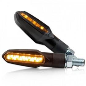 LED blinkry SLIGHT SMOKE, černé (pár - 2ks)