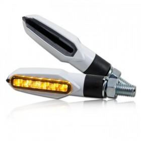 LED blinkry SLIGHT SMOKE, bílé (pár - 2ks)