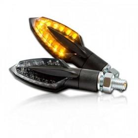 SMD LED blinkry SLIVER SMOKE, černé (pár - 2ks)