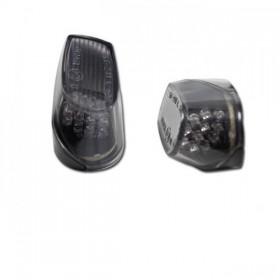 LED blinkry do kapotáže pro BMW S 1000 RR, kouřové (pár - 2ks)