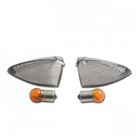 Kouřová skla do blinkrů KTM, včetně žárovek (2ks-pár)