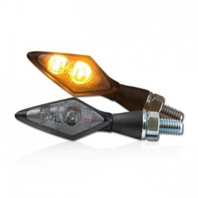 Power-LED blinkry SPARK SMOKE, černé (pár - 2ks)