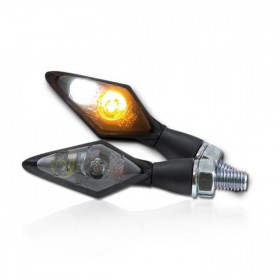 Power-LED blinkry SPARK SMOKE, černé, s parkovacím světlem, (pár - 2ks)