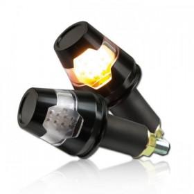 """LED blinkry CONIC do řidítek 7/8"""" nebo 1"""", hliníkové, černé, (pár - 2ks)"""