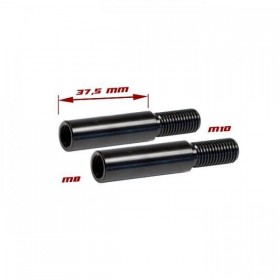 Nástavce nohy blinkru, délka 37,5mm, M8 / M10, ocelové, černé (pár - 2ks)