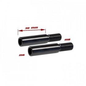 Nástavce nohy blinkru, délka 30mm, M6/M8, černé (pár - 2ks)