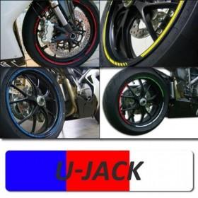 """Proužky GP U-JACK, na ráfky 16""""-19"""", šířka 7mm, sada na obě kola"""