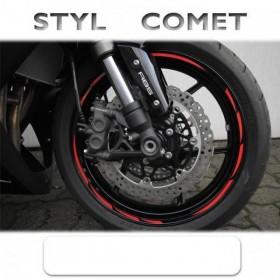 """Proužky COMET STYLE, na ráfky 16""""-19"""", různé barvy, šířka 7mm, sada na obě kola"""