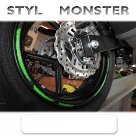 """Proužky MONSTER STYLE, na ráfky 16""""-19"""", různé barvy, šířka 7mm, sada na obě kola"""