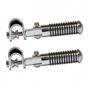Stupačky SOZIUS 2 chromované, gumové kroužky, Ø 26 mm (pár-2ks)