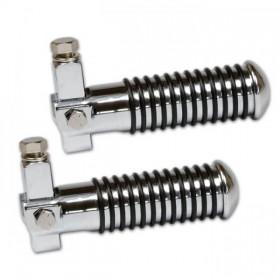 Stupačky SUNDANCE chromované, gumové kroužky, Ø 26 mm (pár-2ks)