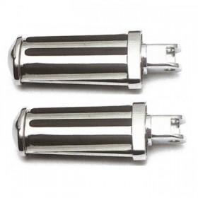 Stupačky HONDA VT 600 C, chromované s gumovými proužky, (pár-2ks)