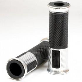 """Rukojeti ALU 1, hliník / guma, 7/8"""" (22mm), délka 120 mm, otevřené konce, (pár-2ks)"""